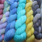 Dyed Alpaca yarns